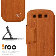 Wood Flip Stand Card Cover Case for Samsung Galaxy S3 3III s i9300 I535 by Iroo   eBay