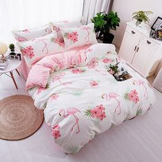 Pink Flamingo Luxury Duvet Cover Bedding Set - Just Pink About It