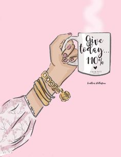 Give – Coffee Art – Coffee Lovers quotes – Spring Art – Cherry Blossoms – Coffee Art – Heather Stillufsen – Famous Last Words Positive Thoughts, Positive Quotes, Motivational Quotes, Inspirational Quotes, Brainy Quotes, Illustration Mode, Illustrations, Megan Hess Illustration, Rose Hill Designs