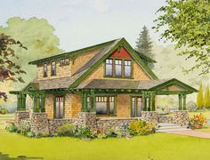House Plan: The Peony from The Bungalow Company :: On the Boards :: The Small Homes Collection