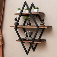 Home Room Design, Home Decor Shelves, Wood Shelves Living Room, Welded Furniture, Metal Furniture Design, Iron Furniture, Wood Shelves, Furniture Design, Metal Furniture