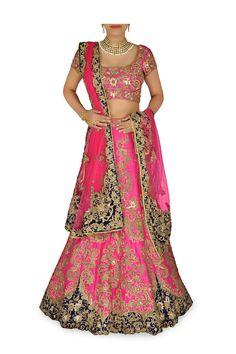 Rani pink silk lehenga