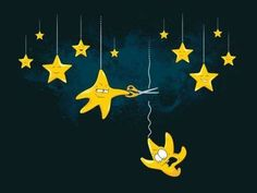 Image uploaded by amer more. Find images and videos about art, funny and lol on We Heart It - the app to get lost in what you love. Denis Zilber, Falling Stars, Sun And Stars, Star Art, Mellow Yellow, Little Star, Cute Illustration, Illustration Pictures, Book Illustrations