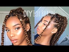 DIY Box Braids | How To Do Box Braids On Yourself | Natural Hairstyles | Flawhs - YouTube