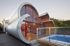 Wolke-Haus in Melbourne durch McBride Charles Ryan Homesthetics Metall für