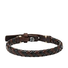 Our brown and black braided leather cuff is a must-have accessory for any man.
