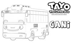 mewarnai gambar karakter gani tayo the little bus Monster Truck Coloring Pages, Toy Story Coloring Pages, Space Coloring Pages, Unicorn Coloring Pages, Cartoon Coloring Pages, Coloring Pages For Kids, School Bus Drawing, School Bus Pictures, Tayo The Little Bus