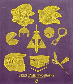 Video Game Typography by Kody Christian