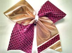 Custom Cheer Bow-YOU PICK COLORS-maroon cheer bow by CraftyOhBows