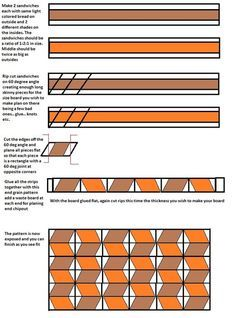 Tumbling blocks 3d cutting board - by KCConst @ LumberJocks.com ~ woodworking community