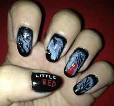 Little Red Riding Hood Nails