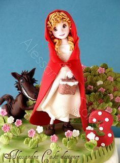 Red Riding Hood by Alessandra Cake Designer, via Flickr