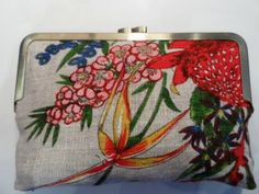 One of a bunch of vintage tea towel clutches. Charming.