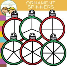 This spinners clip art set features ornaments as spinners! This clip art set contains 12 image files, which includes 6 color images and 6 black & white images. All clip art images are 300dpi for better scaling and printing. You will receive:* 6 color png images* 6 black & white png imagesTerms of Use:  The clip art may be used in educational commercial products.