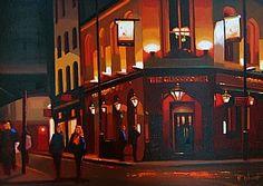 "An Evening Out, London by Michael John Ashcroft Oil ~ 11"" x 14"""