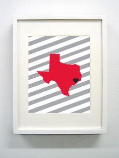 University of Houston Giclée Print  8x10  Go by PaintedPost, $15.00