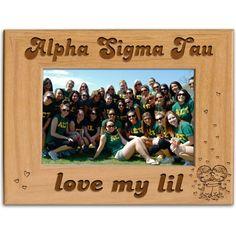 Alpha Sigma Tau Sorority Picture Frame