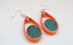 Quilled Paper Earrings | Drops - by: Anama Lili