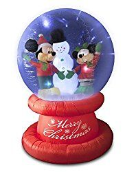 Mickey Mouse and Minnie Mouse holding hands in snow globe Christmas inflatable Disney Mickey, Mickey Mouse, Christmas Inflatables, Outdoor Christmas, Snow Globes, Snowman, Christmas Ornaments, Outdoor Decor, Gifts