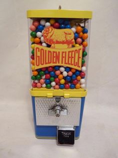 vintage gumball machine Australia GOLDEN FLEECE GASOLINE candy machine $0.99 NR #vintageKomet