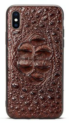 e6cc849807e Crocodile iPhone XS Max Case, Alligator iPhone XS Max, XS Case. Funda De PielCocodriloFundas  Iphone