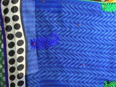 letgo - blue white and black textile scarf... in Fremont, CA