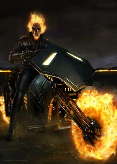 Ghost Rider By Carlos Dattoli Marvel Comics Art, Marvel Heroes, Marvel Characters, Thor Marvel, Captain Marvel, Ghost Rider 2099, Ghost Rider Marvel, Ghost Rider Motorcycle, Motorcycle Memes
