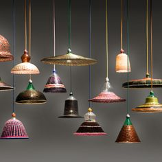 Ethnic style woven pendants with a fun colour palette