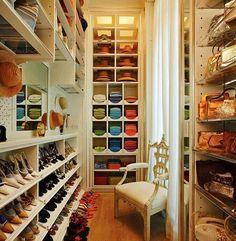 Organização de armários e closets