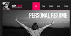 Personal Resume Muse Web Template