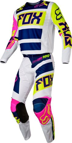 2017 Fox Racing - 180 Falcon Jersey, Pant Combo at BTO SPORTS Fox Motocross Gear, Motocross Girls, Motorcross Bike, Girl Dirtbike, Atv Gear, Motorbike Cake, Dirt Bike Riding Gear, Dirt Bike Helmets, Dirt Biking