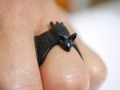 Ringe - Fledermaus Ring ✮ größenverstellbar ✮ Farbwahl - ein Designerstück von…