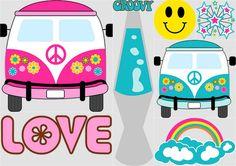 Hippy Party Clip Art.