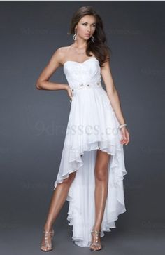 Sexy Sweetheart Short Chiffon Sleeveless A-line Wedding Guest Dress - US$190.49 - 9dresses.com