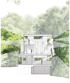 Architectural Drawing Ideas Interesante way of análisis de visuales (Forest House / Kube Architecture. Highlighted views - representation) - Image 21 of 23 from gallery of Forest House / Kube Architecture. Photograph by Kube Architecture Architecture Design, Architecture Panel, Architecture Visualization, Architecture Graphics, Architecture Drawings, Architecture Portfolio, School Architecture, Landscape Architecture, Planer Layout