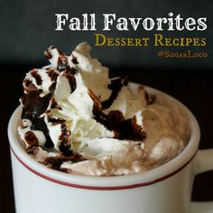 dessert and drink recipes for fall