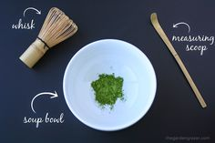 Matcha: how-to Start by measuring 1 flat teaspoon matcha powder in a bowl. If you're using a bamboo scoop, it's about two scoops. Heat 5 oz. (~2/3 cup) water, just under boiling (around 160-170 degrees) and add it to the bowl. Using a bamboo whisk, stir a few times to make sure all the clumps are off the bottom and side, then whisk very briskly back and forth in a straight line for about 20-30 seconds (trying not to scrape the bottom of the bowl with the delicate bamboo prongs). Then whisk…