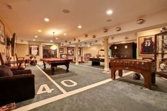 Turning Your Basement into the Ultimate Man Cave Can Be Fun - Man Cave Home Bar Man Cave Designs, Man Cave Diy, Man Cave Home Bar, Men Cave, Man Cave Basement, Man Cave Garage, Basement Stair, Man Cave Colors, Football Man Cave