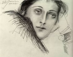 "Pablo Picasso - Portrait de Dora Maar, 1937 ""Picasso's feelings for women were extremely intense. He could not function without a woman around. Dora Maar, his mistress from 1936 to said when. Kunst Picasso, Art Picasso, Picasso Drawing, Picasso Paintings, Picasso Images, Dora Maar, Picasso Sketches, Cubist Movement, Guernica"
