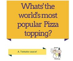 "The #answer for the #QUESTION of the week ""What's the world's most popular #Pizza topping?"" is...  TOMATO SAUCE!  #AdelaideCelebrant #Questionoftheweek"