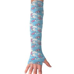 Go KJ Shark Clouds Pattern Arm Gloves Anti-uv Sun Protection Long Cooling Sleeve Driving Cover Fingerless Breathable Clouds Pattern, Types Of Fashion Styles, Sun Protection, Shark, Gloves, Pajama Pants, Socks, Sleeve, Manga