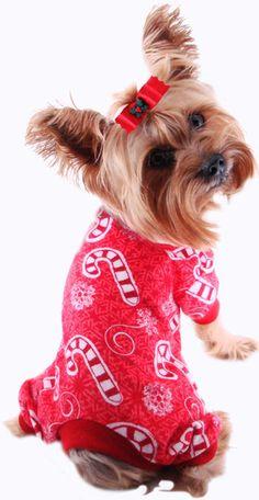 Dog Pajamas - Pet Pajamas, Puppy PJ, Yorkie Pajamas, Dachshund Pajamas, Christmas Dog PJ's, Small Pajamas