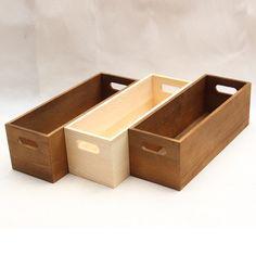 18rmb 木盒长条收纳盒优质zakka实木木盒长方形多肉托盘办公桌杂货整理-淘宝网