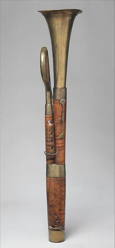 1830 fagot Ruso Francés en el Museo Metropolitano de Arte, Nueva York - Solo para aclarar: se trata de un instrumento llamado un fagot ruso, y está hecho en Francia.