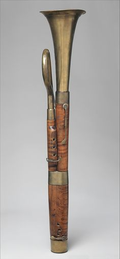 1830 French Russian bassoon at the Metropolitan Museum of Art, New York - Just to clarify: this is an instrument called a Russian bassoon, and it's made in France.