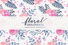 Floral Ornaments Vol.1 Graphics **Floral Ornaments Vol.1   Individual Elements**This pack includes :- 10 high definition hand-dr by Petite Salade