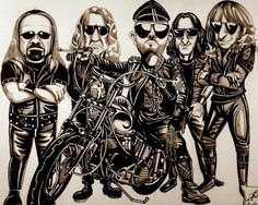 1000 Images About Caricatures Rock Bands On Pinterest