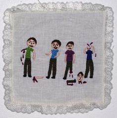 Strong Man, 2009, by Annie Aube, hand embroidery, www.annieaube.com