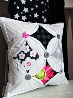 black cathedral windows cushion - LOVE LOVE LOVE