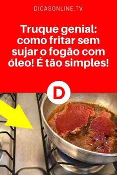 Fritar bife sem sujar   Truque genial: como fritar sem sujar o fogão com óleo! É tão simples!   COMO ASSIM?!  Por que nunca ensinaram isso antes??